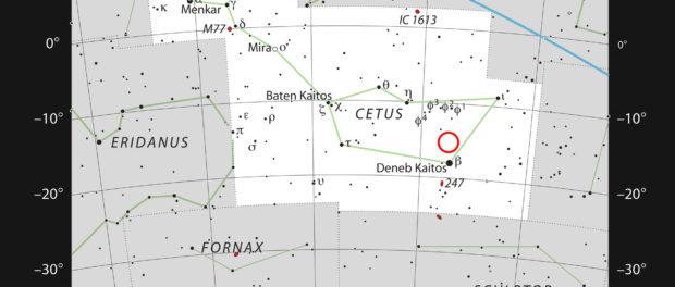 Localisation de la naine rouge LHS 1140