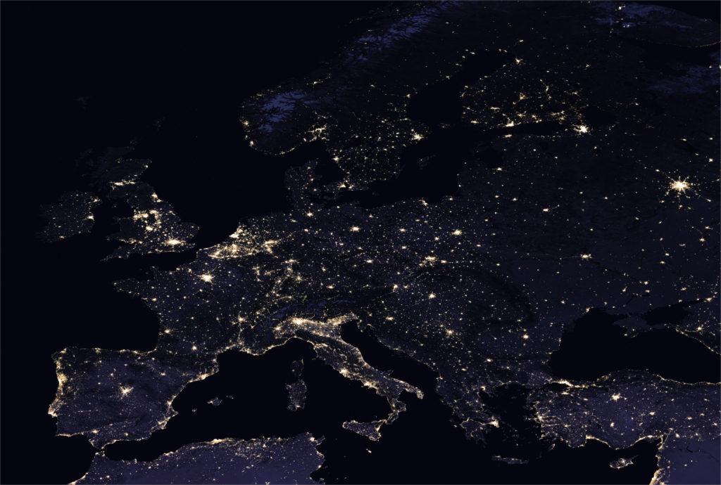 L'Europe de nuit