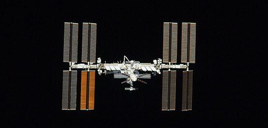 position de l'ISS