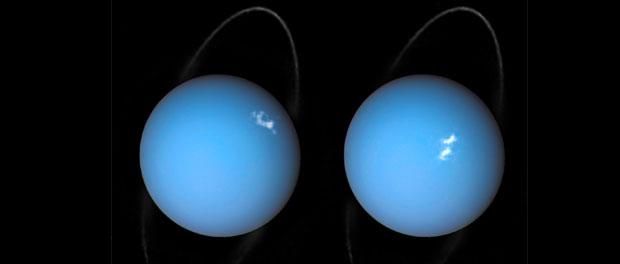 Les pôles magnétiques d'Uranus