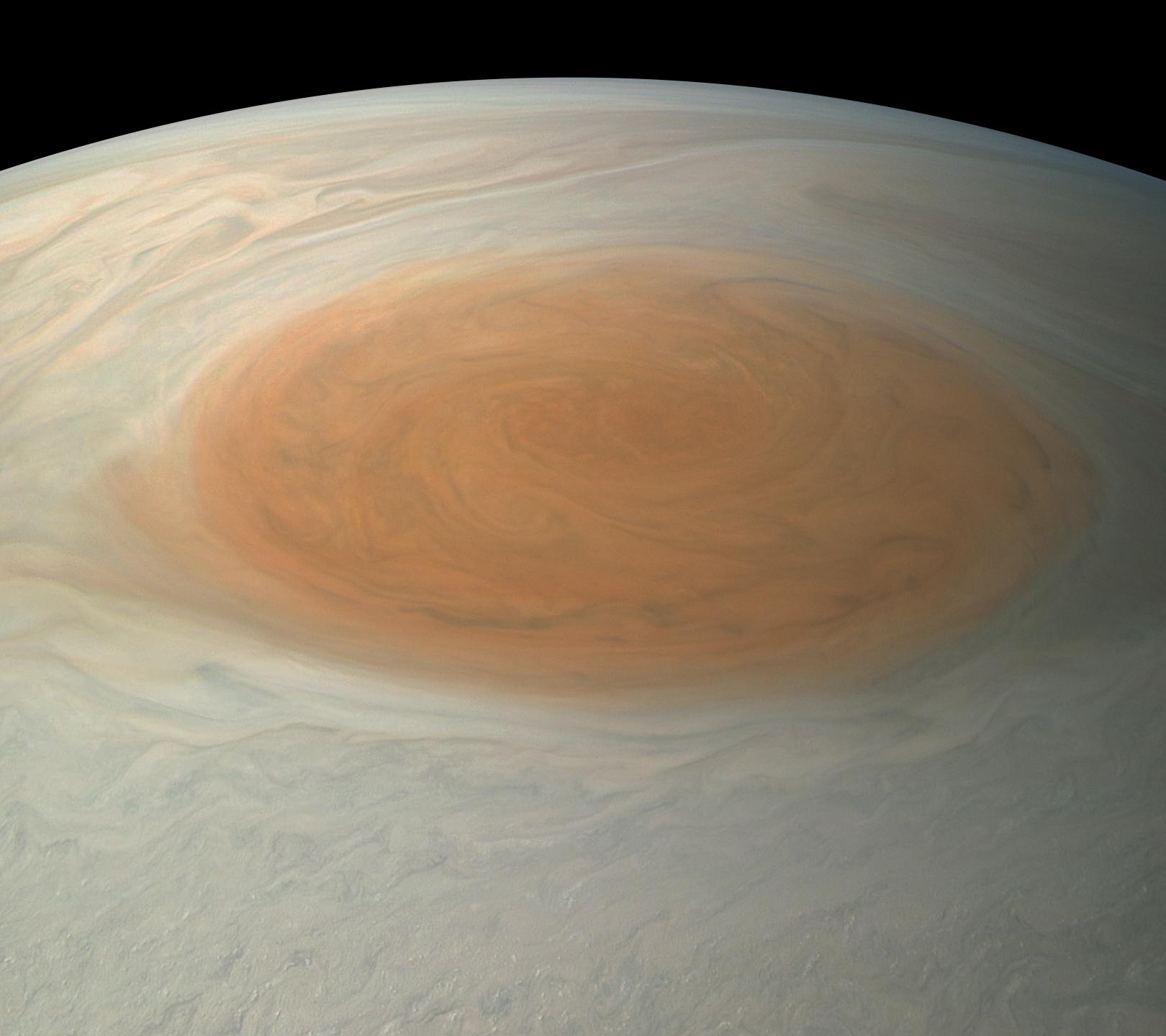 La grande tache de Jupiter