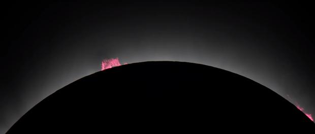 vidéo de l'éclipse solaire