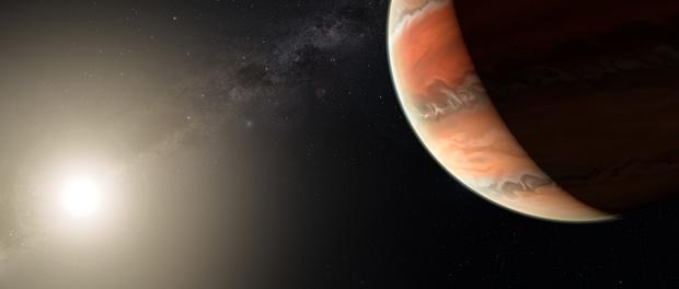 titane sur une exoplanète