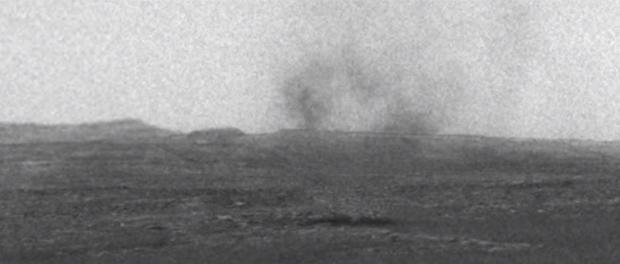 Les tourbillons de poussières sur Mars