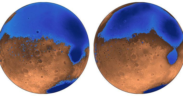 Les océans de Mars