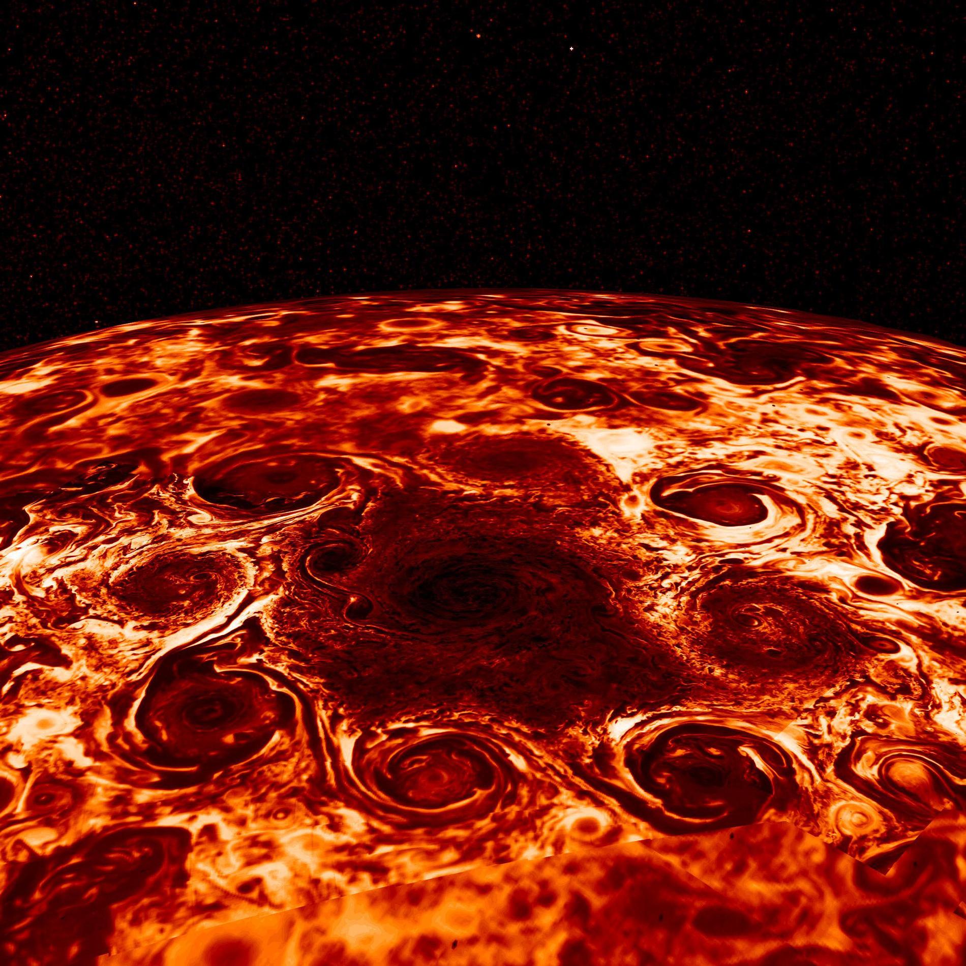 Les cyclones de Jupiter