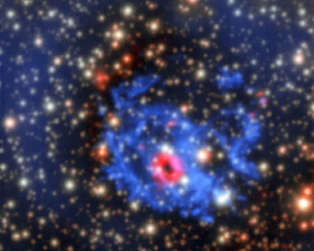 Vue de MUSE de l'environnement d'une étoile à neutrons cachée dans le Petit Nuage de Magellan