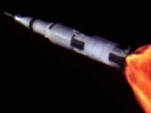 flammes des fusées
