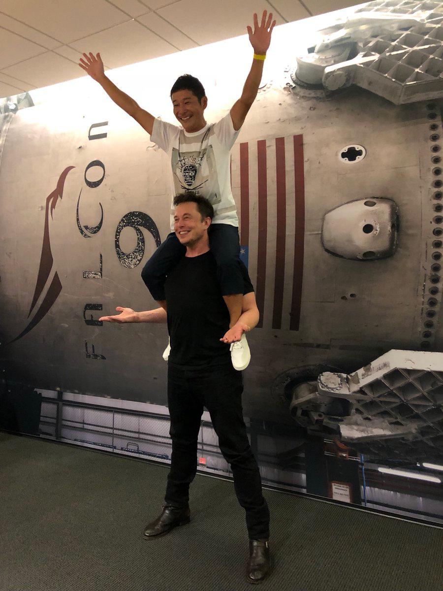Elon Musk et Yusaku Maezawa