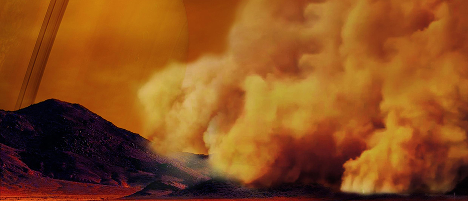Des tempêtes de poussière sur Titan