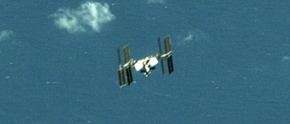 La station spatiale internationale photographiée par un satellite chinois