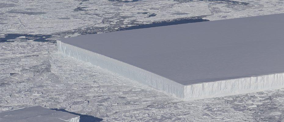 Iceberg rectangulaire