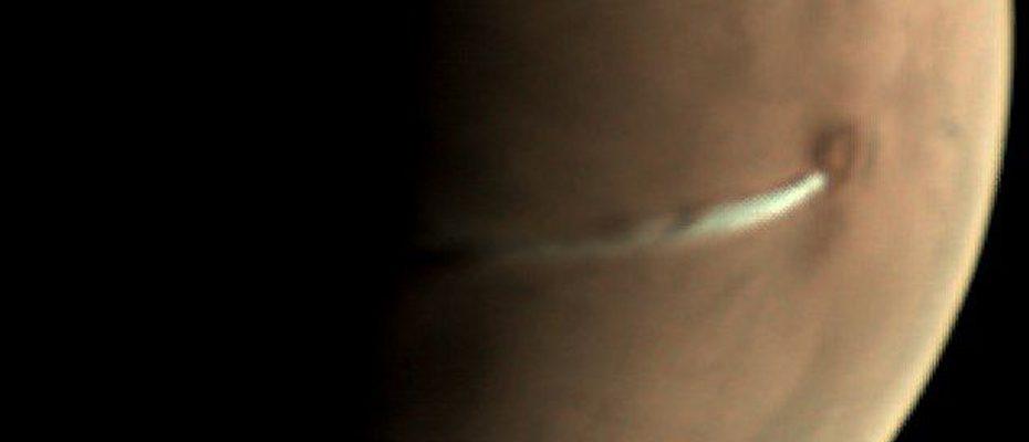 formation nuageuse sur Mars