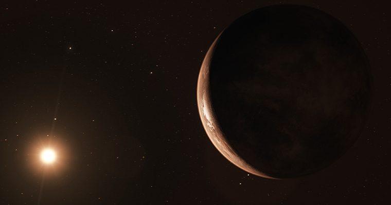 La super-Terre en orbite autour de l'étoile de Barnard