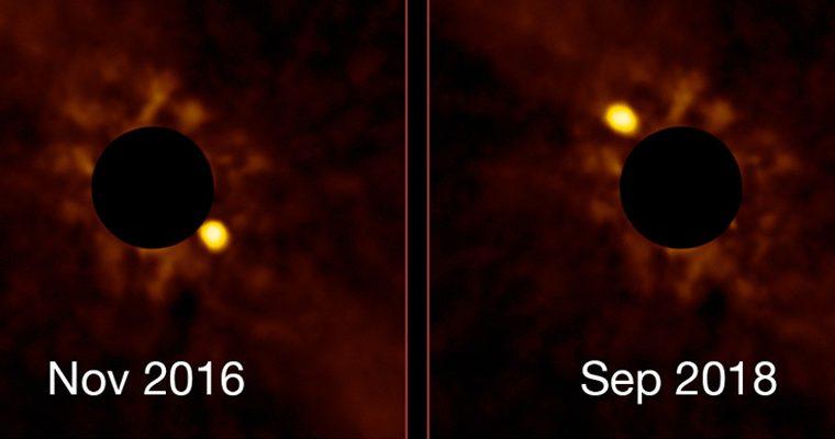 Timelapse d'une exoplanète