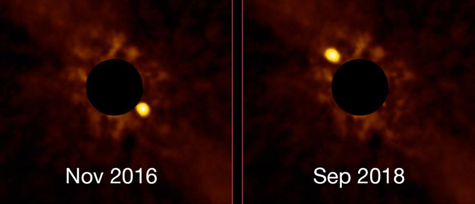 Superbe time-lapse de l'exoplanète Beta Pictoris b (ESO)