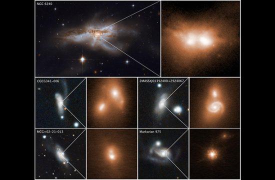 Des paires de trous noirs supermassifs au cœur de galaxies en fusion