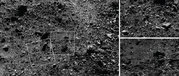 La surface de l'astéroïde Bennu