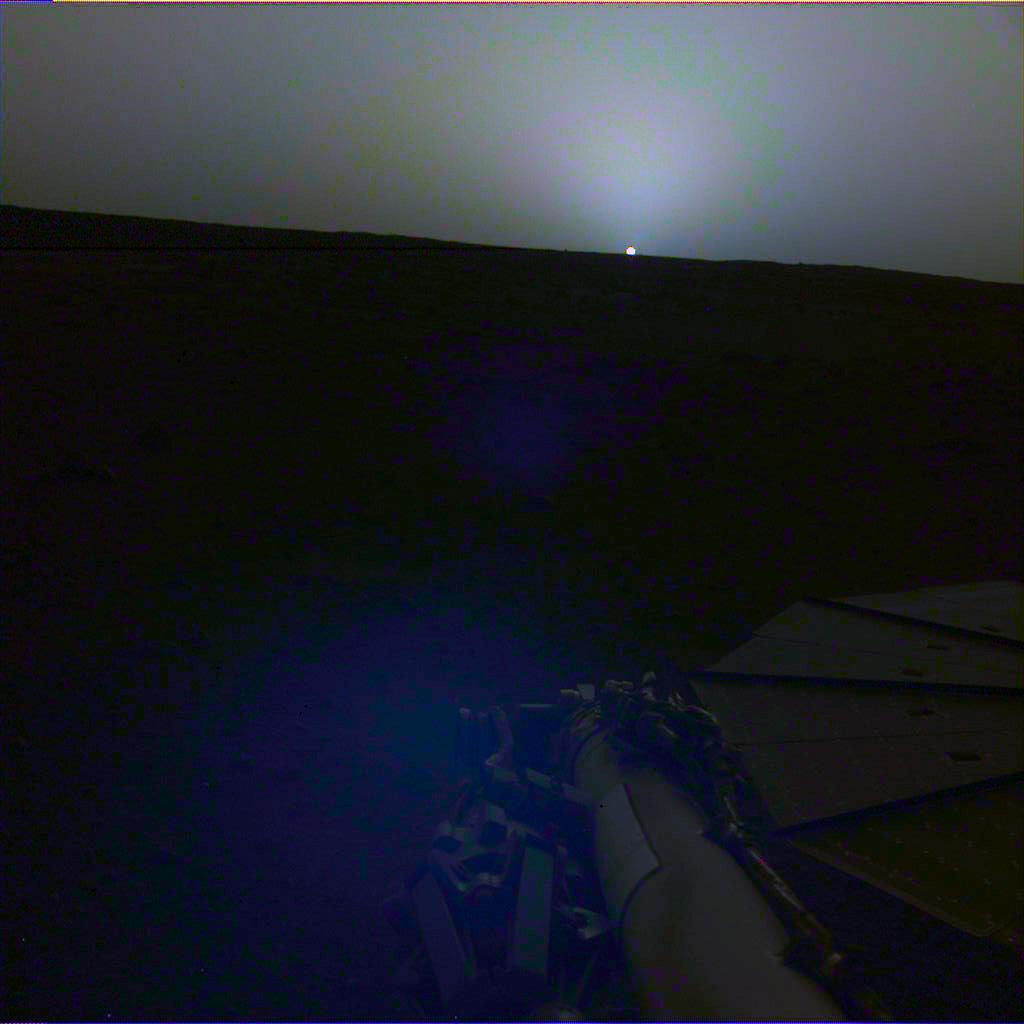 Un coucher de soleil sur Mars