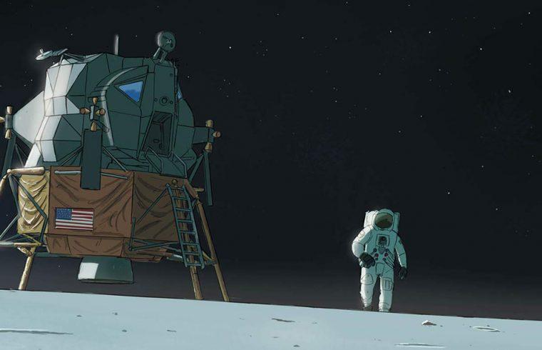 Premiers Pas de l'Homme Sur la Lune