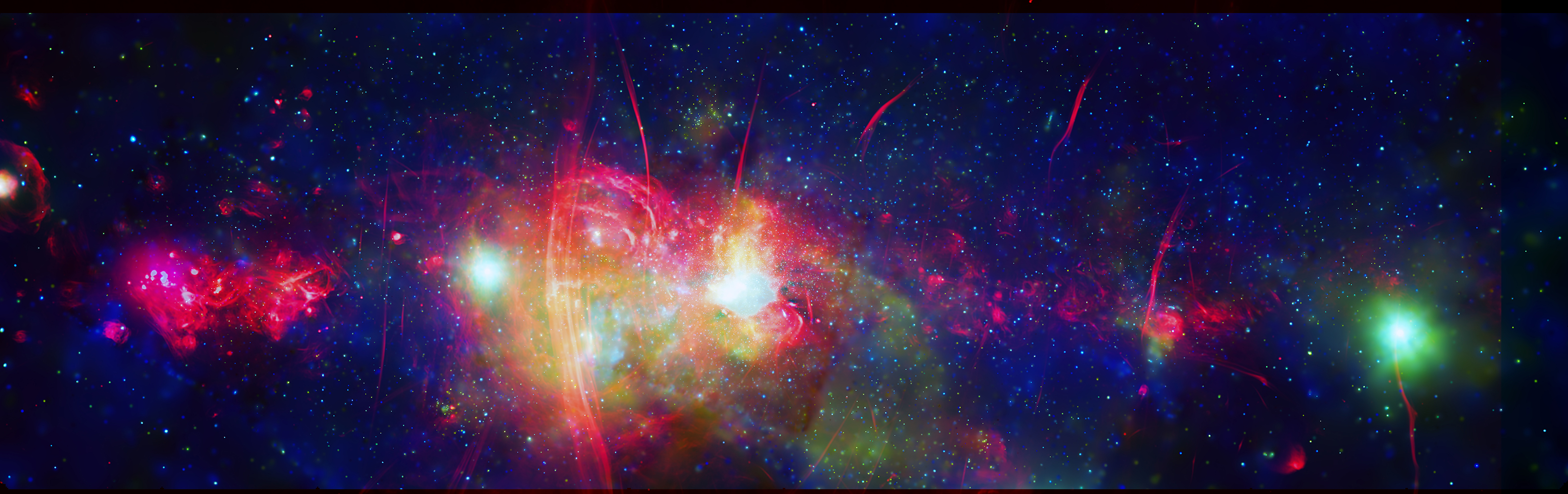 La région centrale de notre galaxie, la Voie lactée