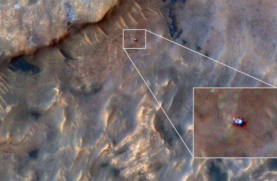 Curiosity vu par HiRISE