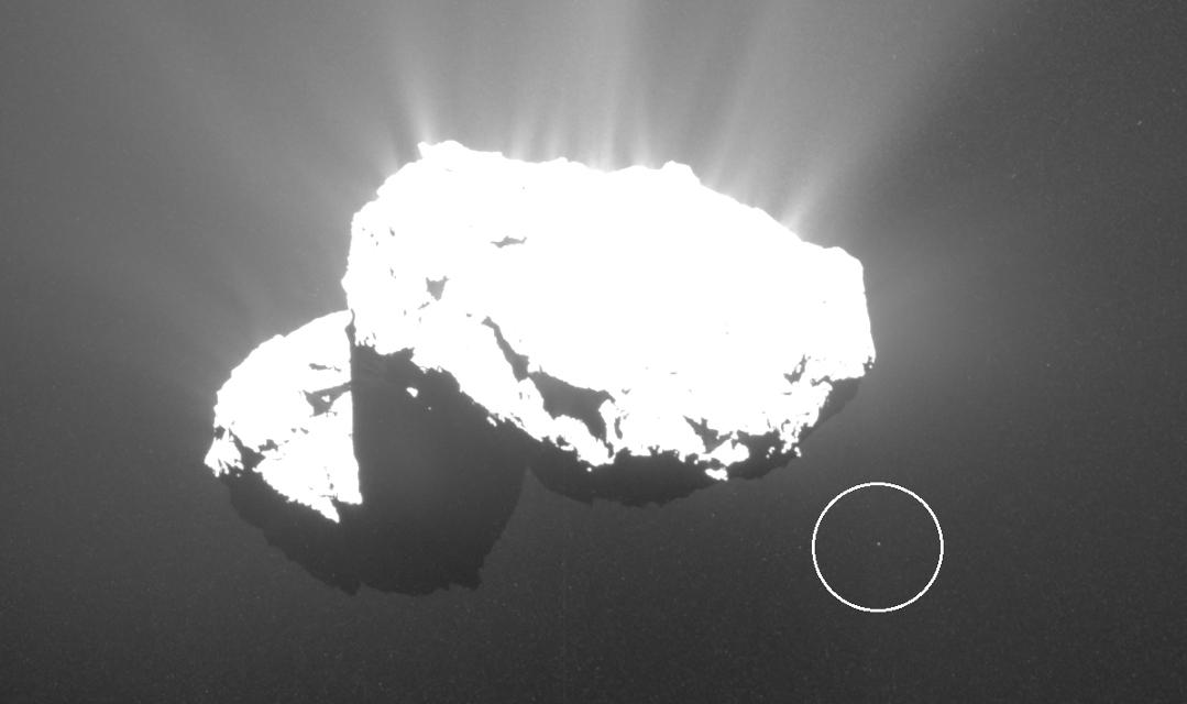 Un petit débris observé autours de la comète Churyumov