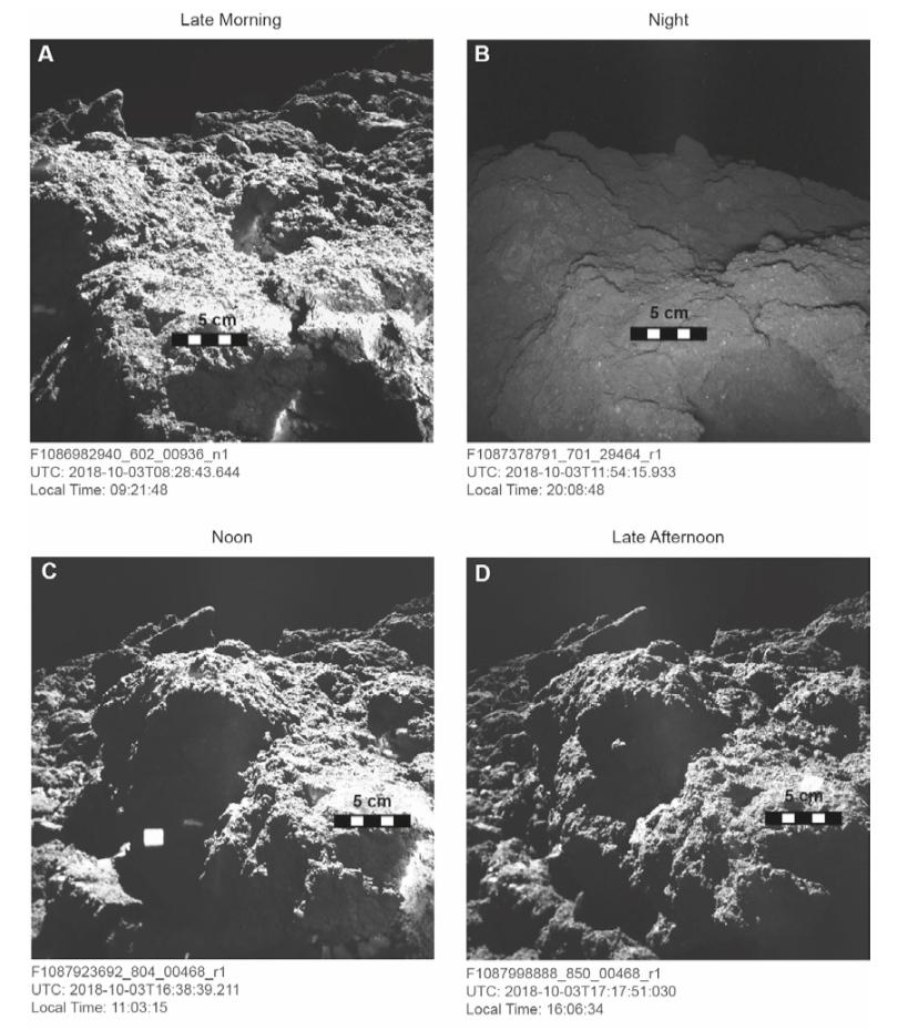 Ryugu de jour et de nuit