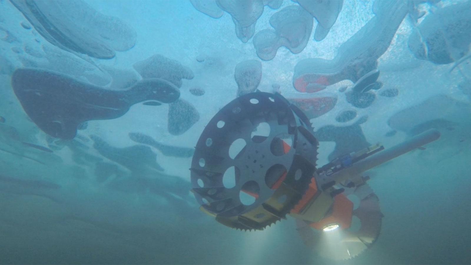 Le rover aquatique BRUIE