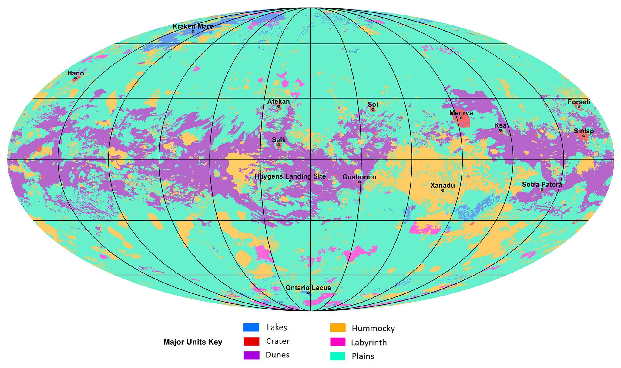 La carte géomorphologique de Titan