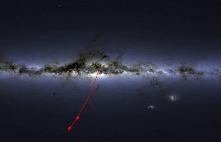 Une étoile éjectée par notre trou noir flashée à 1755 km/s