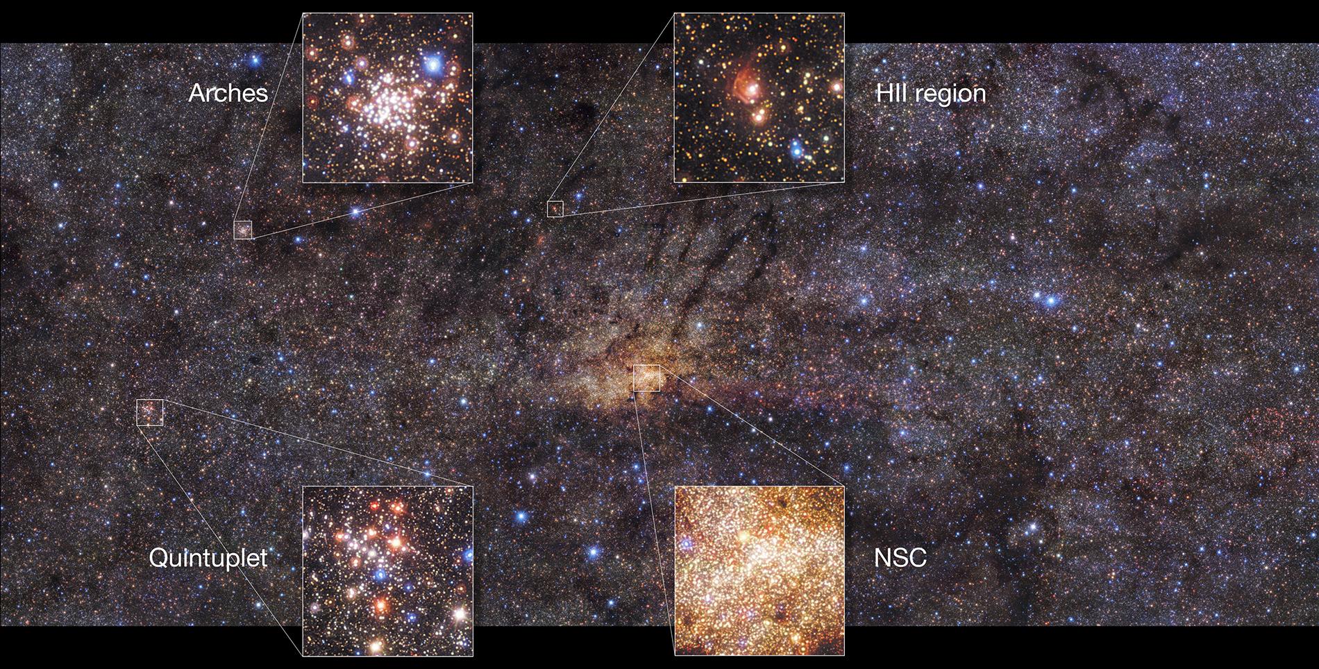 Vue détaillée des régions centrales de la Voie Lactée acquise par HAWK-I
