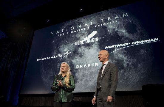 L'équipe nationale de Blue Origin pour se poser sur la Lune
