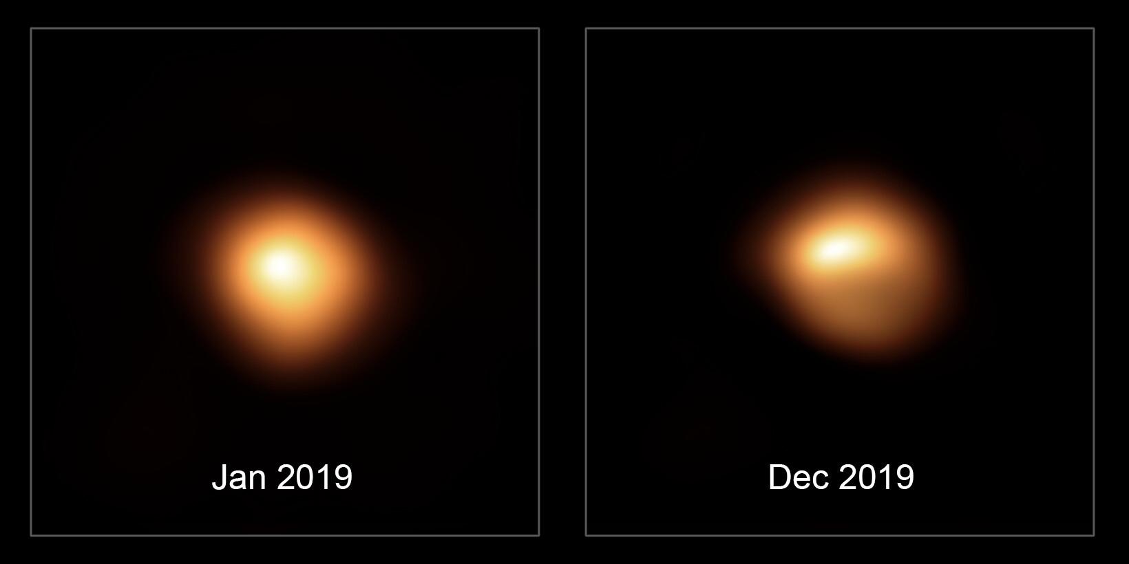 Images de Bételgeuse acquises avant et après sa baisse de luminosité