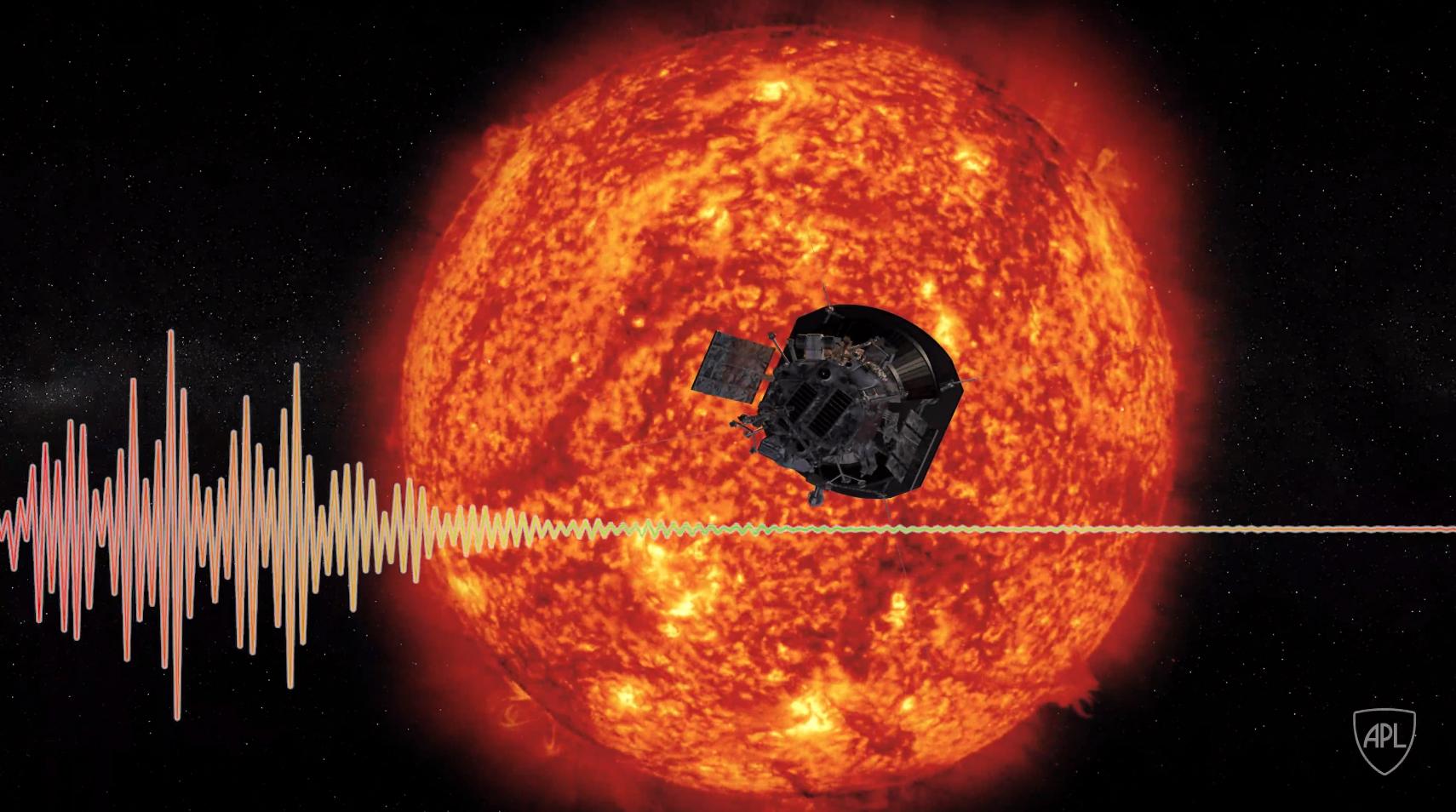 Le son du vent solaire enregistré par Parker Solar Probe