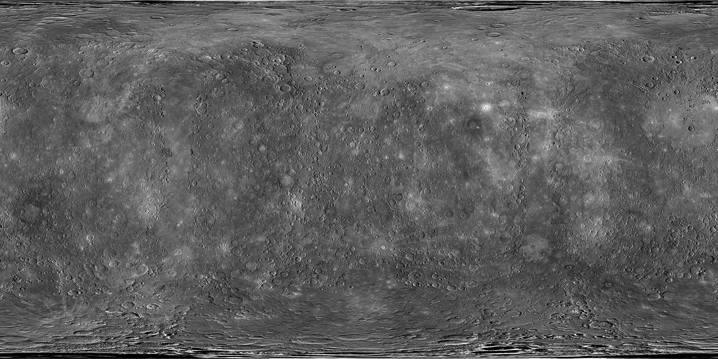 La carte morphologique de Mercure