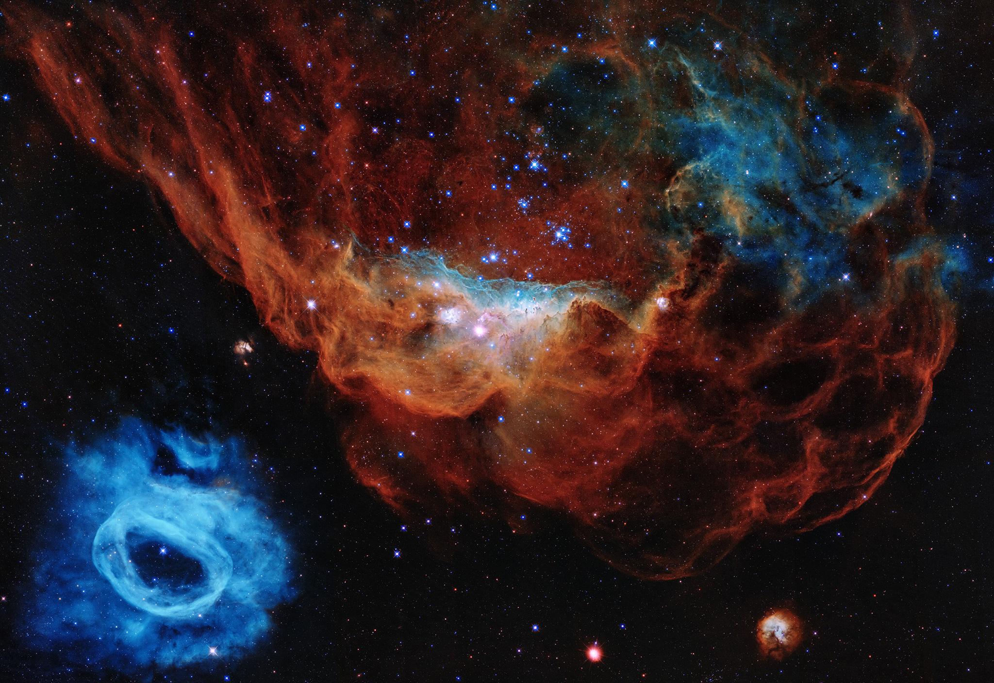 NGC 2014 et sa voisine NGC 2020