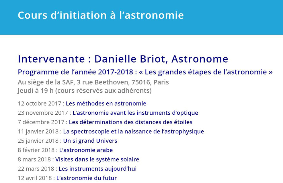 Cours d'initiation à l'astronomie