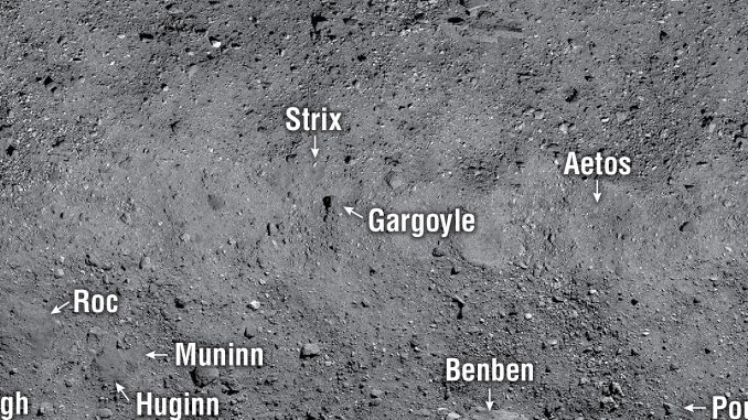 La carte de la surface de Bennu
