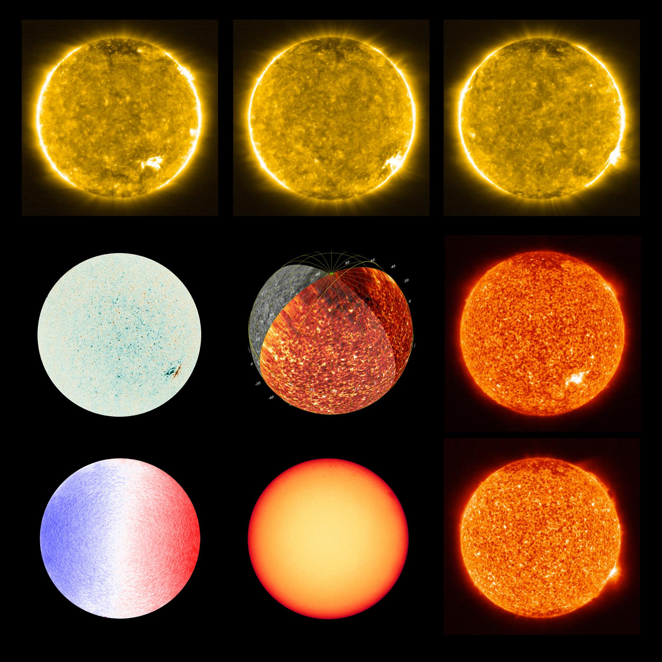 Les différentes observations du Soleil par Solar Orbitera