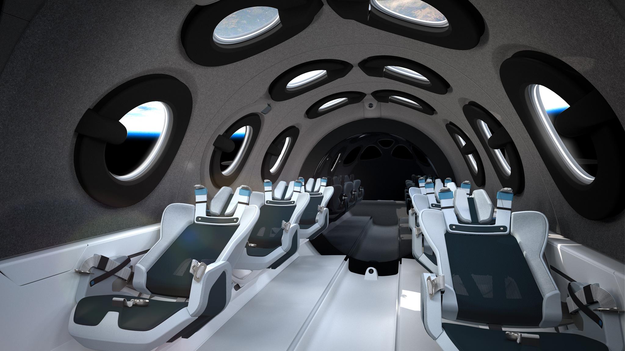 L'intérieur du SpaceShipTwo