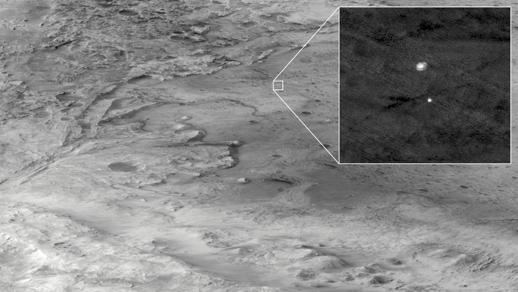 HiRISE observe Perseverance