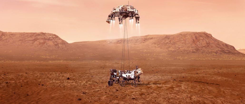L'atterrissage du rover Perseverance sur Mars en direct