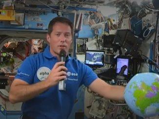 Conférence de presse de Thomas Pesquet depuis l'ISS